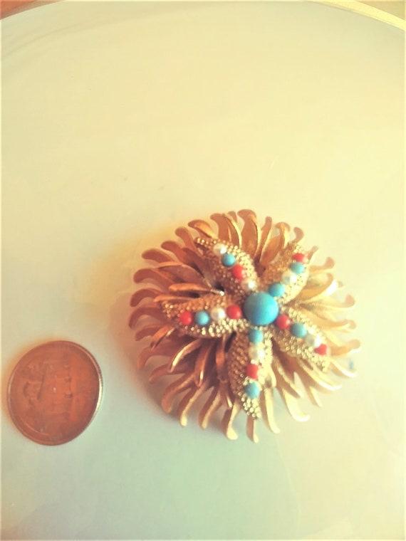 Large Starfish Brooch / Pin / Starfish Jewelry / … - image 6