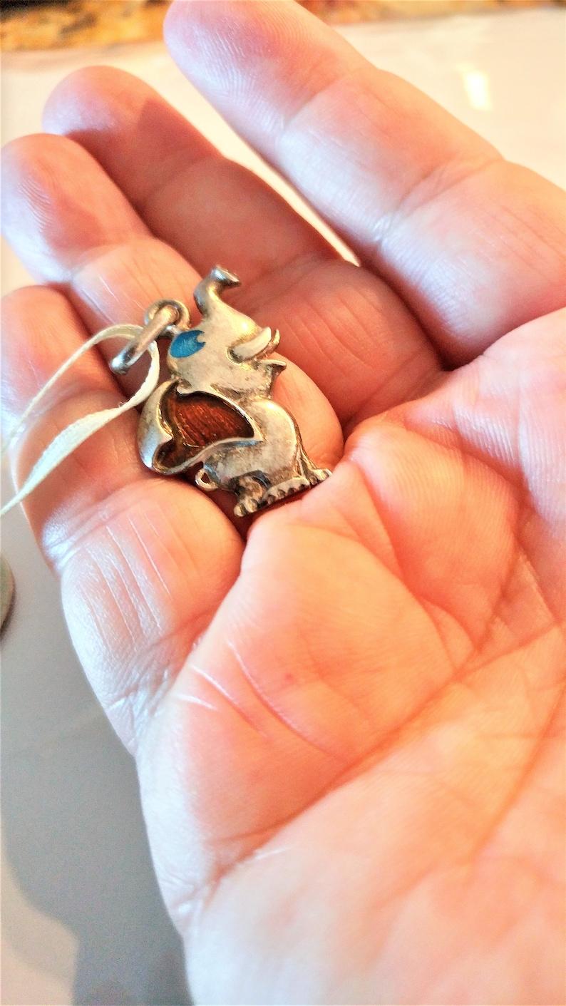 Silver Elephant Pendant  Elephant Necklace  Silver Elephant Necklace  Silver Elephant Pendant Sterling Elephant Necklace Silver Jewelry