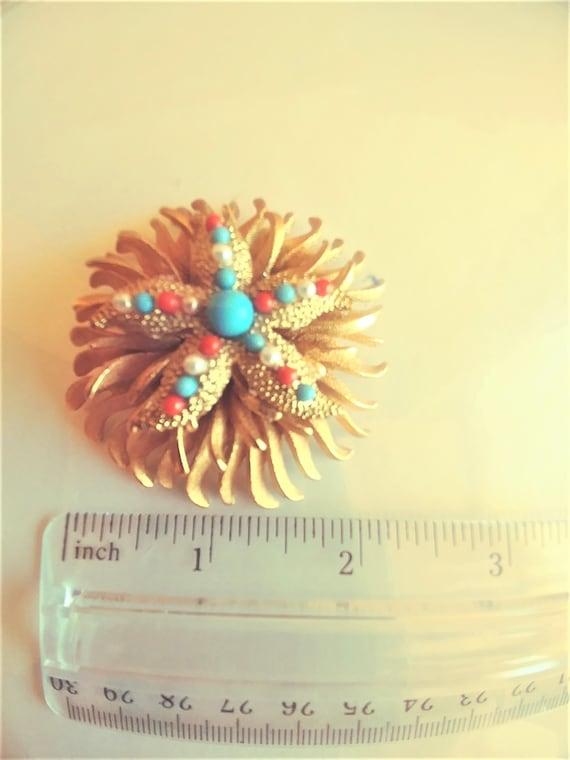 Large Starfish Brooch / Pin / Starfish Jewelry / … - image 4