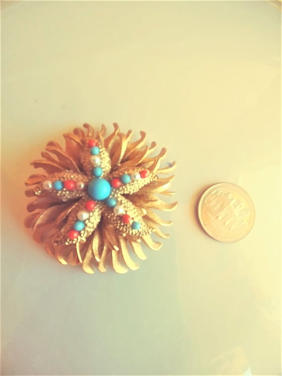 Large Starfish Brooch / Pin / Starfish Jewelry / … - image 3