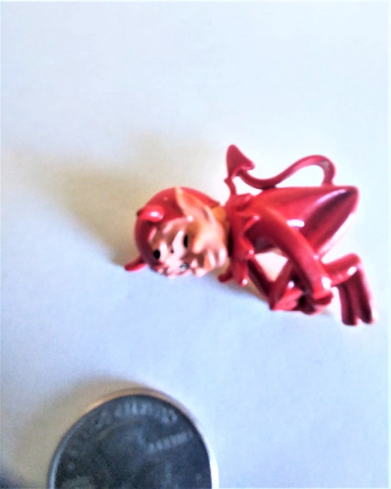 Winking Devil Brooch / Pin /Extremely Rare Brooch… - image 3