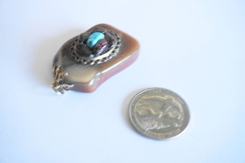 Vintage Stone Necklace  Turquoise Necklace  Stone Jewelry  Turquoise Jewelry  Stone Pendant  Turquoise Pendant  Stone Items