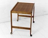 Danish Vintage teak serving cart, Mid Century