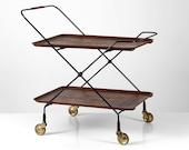 Vintage design bar cart by JIE Gantofta Sweden, Mid Century modern