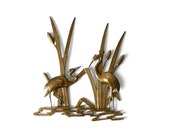 Crane wall hanging, brass wall hanging, 60s wall hanging, 60s brass, brass wall decor, crane wall decor, 60s wall decor, solid brass decor