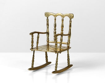 Dollhouse Miniatures Brass Mesh Swivel Chair RARE #2