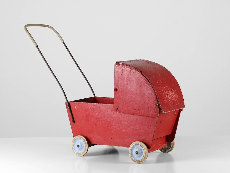 Antiques Baby Carriages & Buggies Antique Buggy Baby Doll Toy Carriage Stroller Paint
