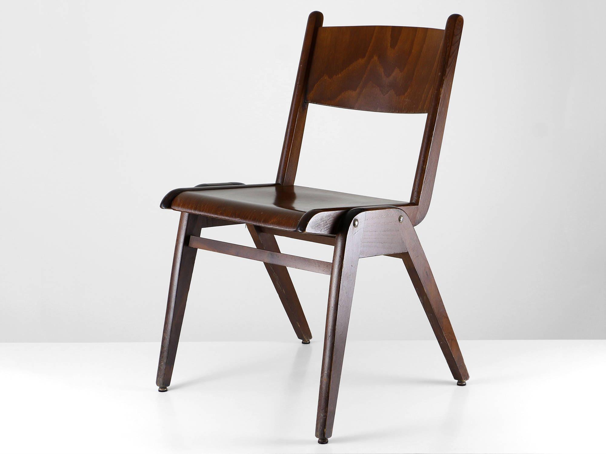 Vintage Casala Stuhl 50er Modern Dining Chair Holz Stuhl