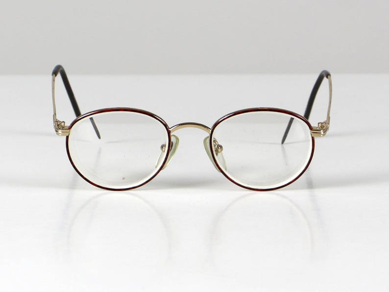 dca626683a Red round glasses spectacle frame vintage eyeglasses