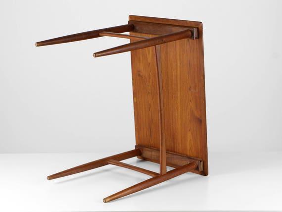 Teak Beistelltisch Danish Teak Tisch 60er Danish Design Etsy