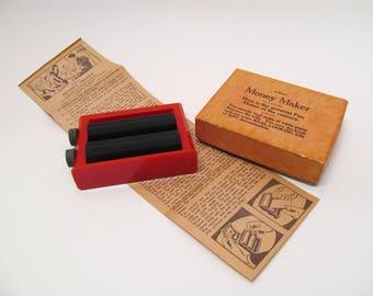 Vintage Adams Money Maker Magic Trick / Money Changer Trick / Vintage Magician's Tricks / Vintage Toys and Games