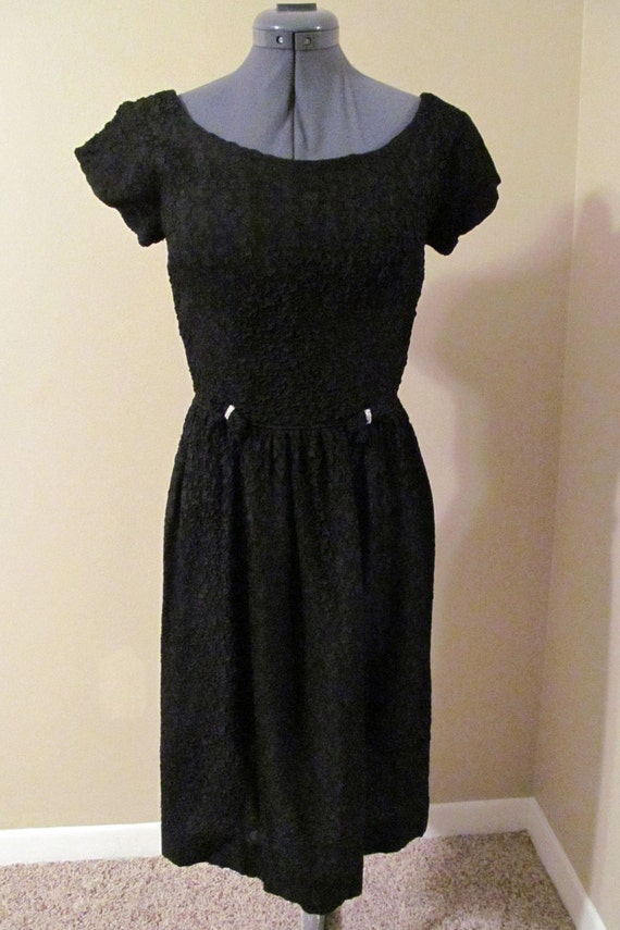 Vintage MINX MODES Rhinestone Embellished Black Co