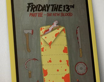 Friday the 13th Part VII: The New Blood Jason Vorhees Movie Poster Print
