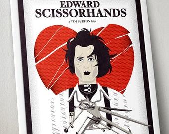 Edward Scissorhands Poster Print