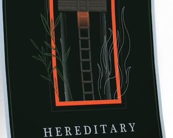 Ari Aster Hereditary Horror Alternative Minimalist Movie Print Premium Matte vertical posters