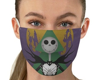 Nightmare Before Christmas Fabric Face Mask