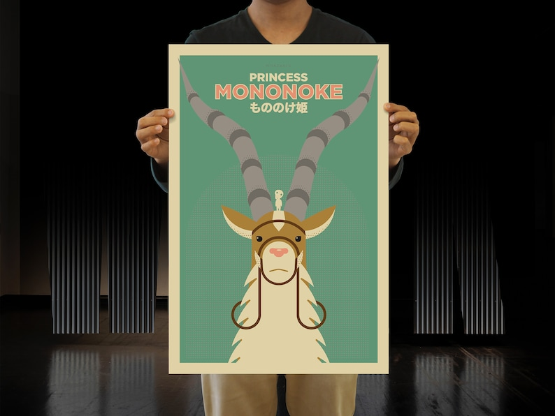 Princess Mononoke Alternative Movie Poster Minimalist Yakul image 4