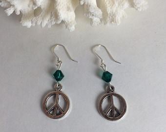 Green Peace Earrings