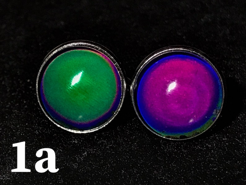 Mood Color Changing Cufflinks Tie Clip or Set