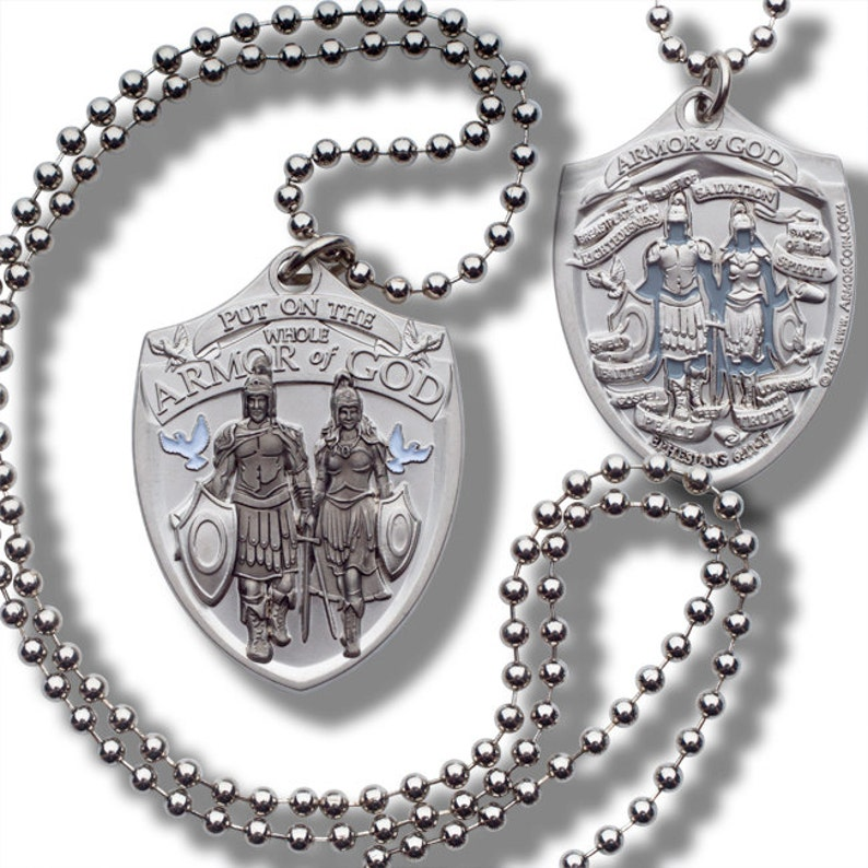 Fashion Jewelry Whole Armor of God Dog Tag with Thick Ball Chain necklace pendant watch