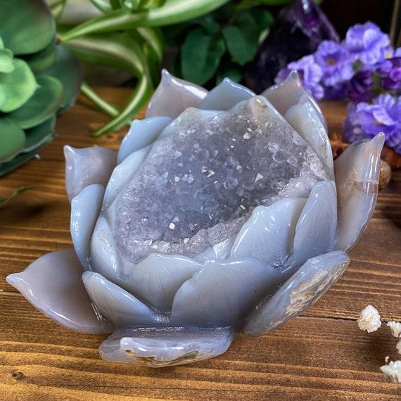 Druzy Geode Agate Lotus