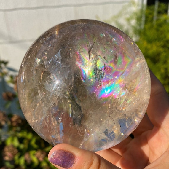 Rainbow Quartz Sphere