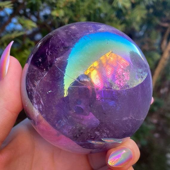 Aura Rainbow Amethyst Sphere