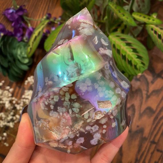 Aura Flower Agate Flame