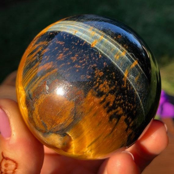 Blue Gold Tiger Eye Sphere