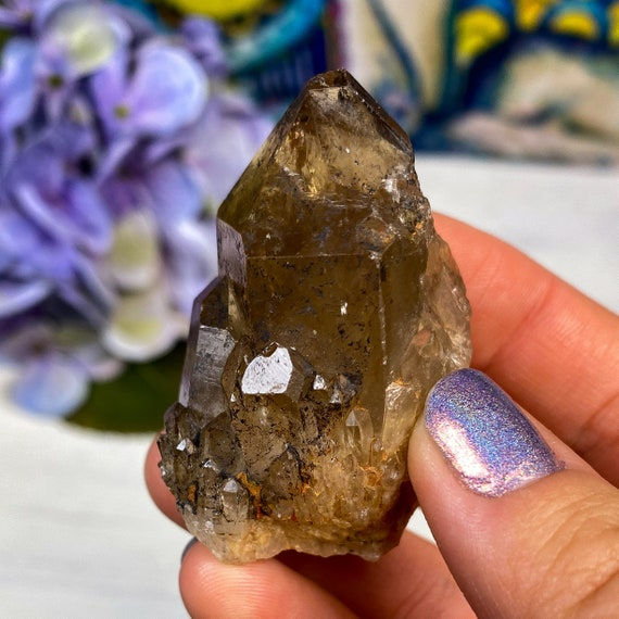 Natural Congo Citrine Point, Naturally Formed Citrine