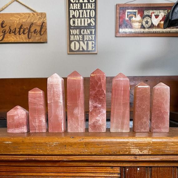 You Choose Rose Calcite Tower