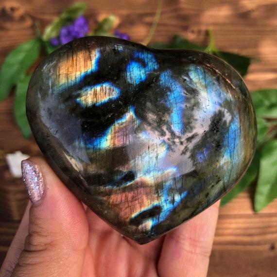 Labradorite Stone Heart