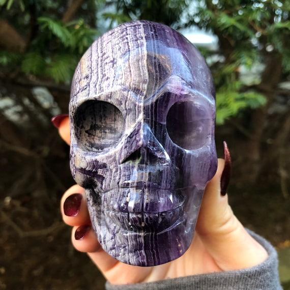 Rare Silk Purple Fluorite Skull