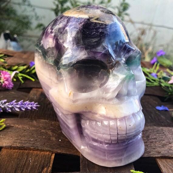 Rare Lavender Fluorite Skull