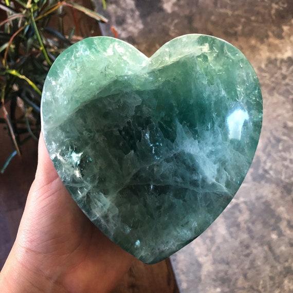 Green Fluorite Heart Bowl