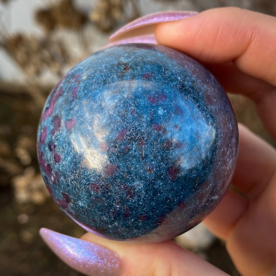 Ruby In Kyanite Sphere With Stand