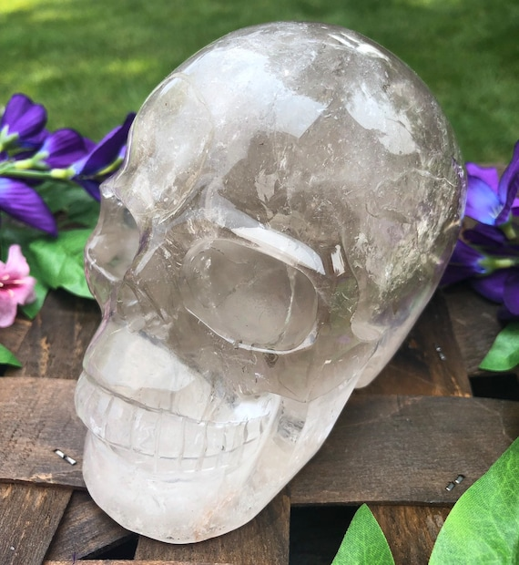 Rainbow Smokey Quartz Skull