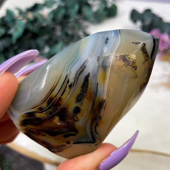 Dendritic Agate Flame, Abundance Stone