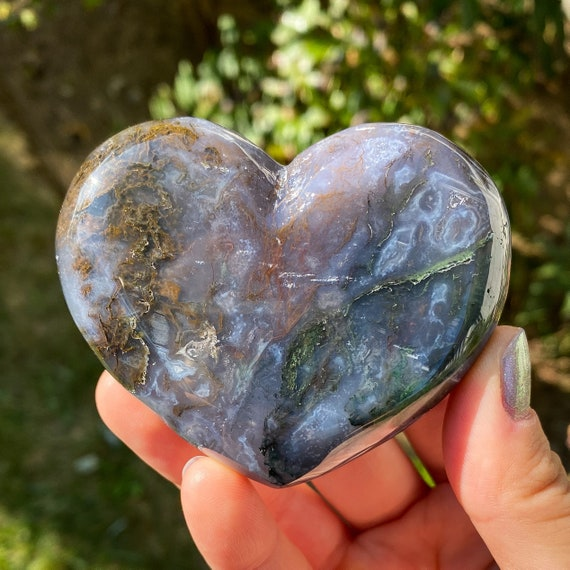 Gorgeous Moss Agate Heart