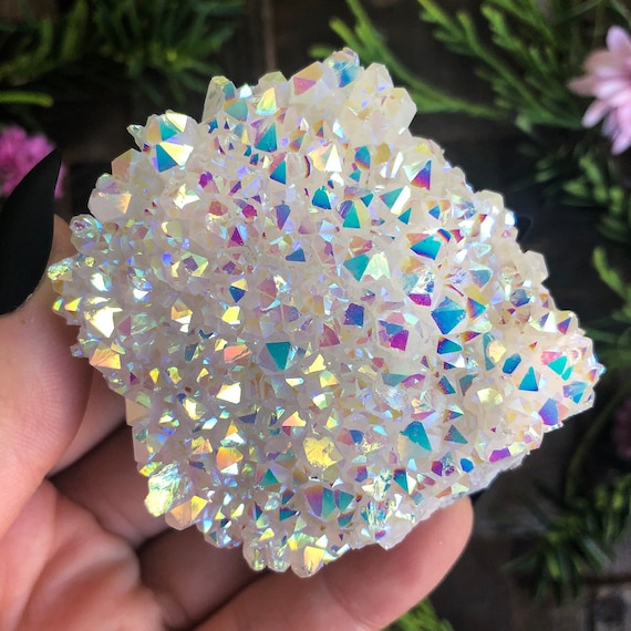 Angel Aura Quartz Cluster