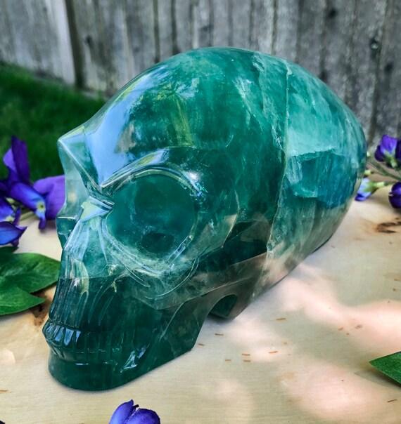 Rare Large Fluorite Alien Skull