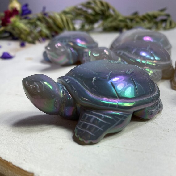 You Choose Aura Agate Turtles, Good Luck Stone