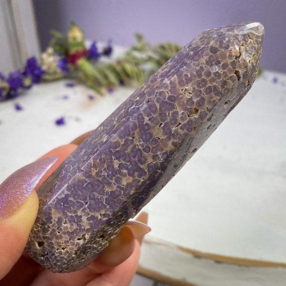 Grape Agate Tower, Botryoidal Purple Chalcedony