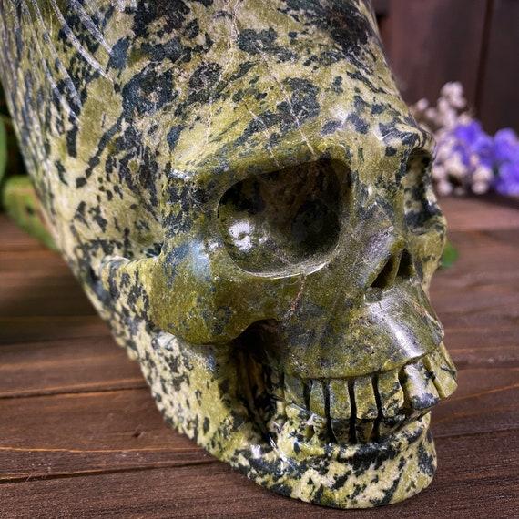 Super Unique Nephrite Jade Skull