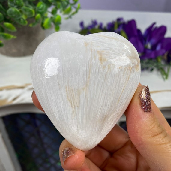 Beautiful Scolecite Heart