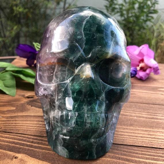 Rainbow Fluorite Skull XL