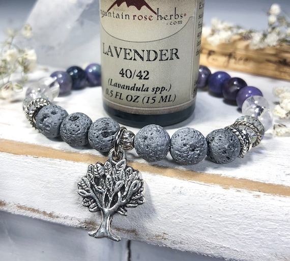 Essential Oil Bracelet, Diffuser Jewelry, Tree of Life Bracelet, Spiritual Gifts for Her