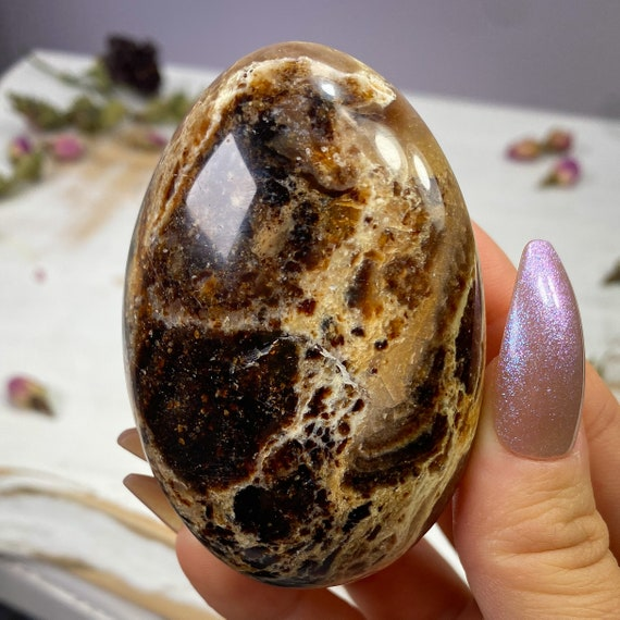 You Choose Black Opal Palm Stones