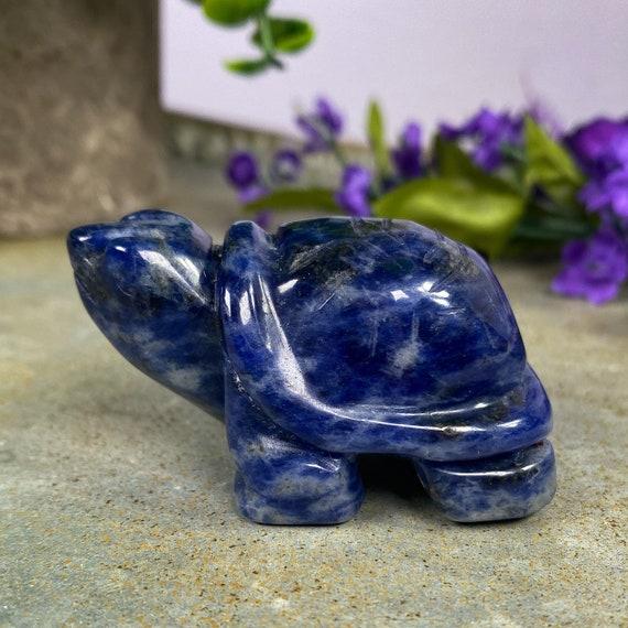 Beautiful Deep Blue Sodalite Turtle