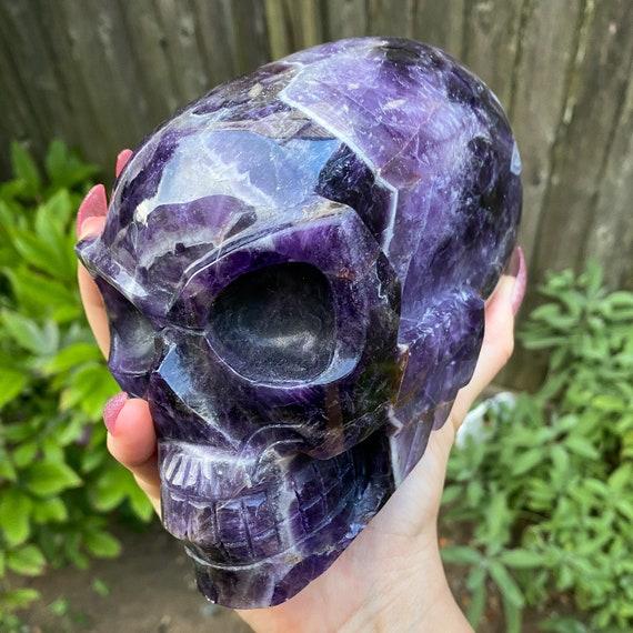 Huge 5.5 Lb Amethyst Alien Skull